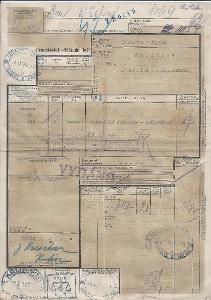 Nákladní list BuM 1943, z KOLÍNA do LÍSKOVCE U FRÝDKU OBRÁZEK!!POPIS!!