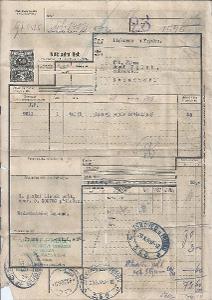 Nákladní list ČSR I, z PRAHY do LÍSKOVCE U FRÝDKU OBRÁZEK!!POPIS!!