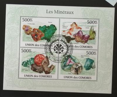 Komory 2010 CTO aršík, Minerály a horniny Afriky