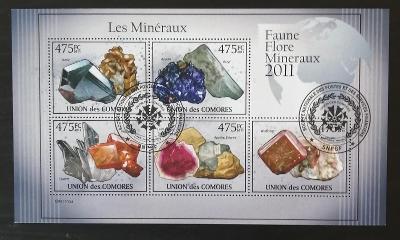Komory 2011 CTO aršík, Minerály a horniny Afriky