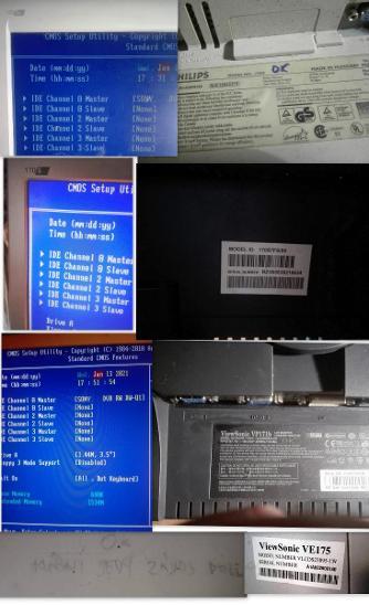 """17"""" LCD značkové monitory Philips, Viewsonic funkční záruka - Příslušenství k PC"""