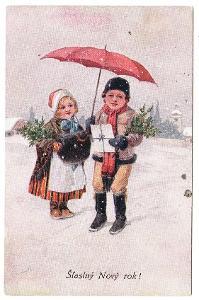 Přání - Nový rok 1919