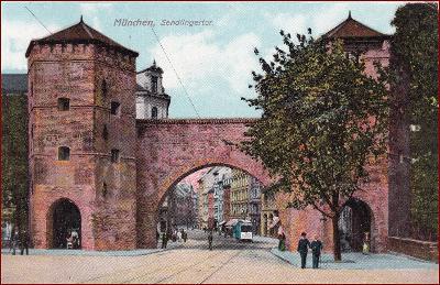 München * Sendlingertor, městská brána, hradby * Německo * Z1764