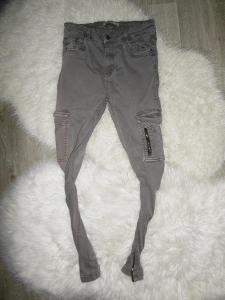 od 1kč - PULL BEAR dámské slim jeansy džíny pružné vysoký pas XS/S
