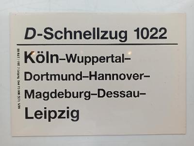 Směrová cedule DB - D 1022 (Köln - Leipzig) 1999