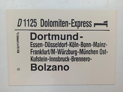 Směrová cedule DB - D 1125 DOLOMITEN-EXPRESS