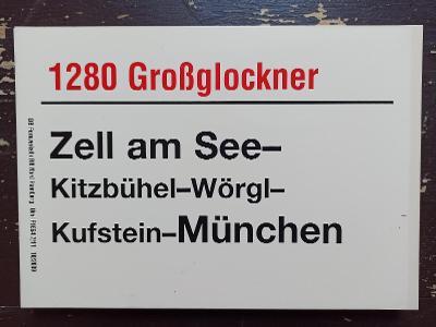 Směrová cedule DB - D 1280 GROẞGLOCKNER