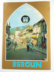 Beroun - Průhled Plzeňskou branou do Palackého ulice 1976