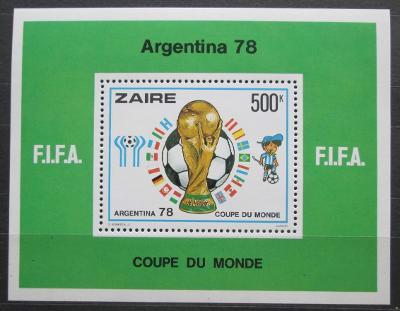 Zair 1978 MS ve fotbale Mi# Block 18 Kat 25€ 2363