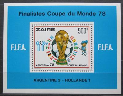 Zair 1978 MS ve fotbale Mi# Block 19 Kat 25€ 2363