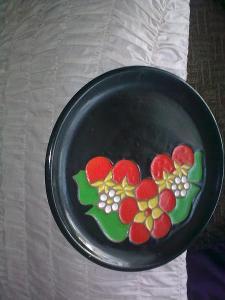 Talíř keramický na pověšení značený  TEKT USSR 26,8 cm