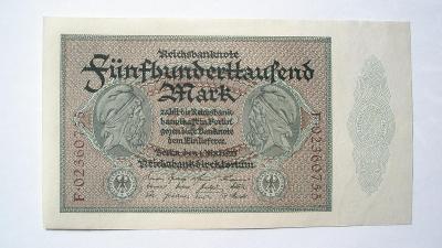 Německo 500000 marek 1923 série F