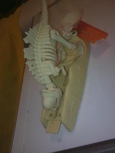 Dinosaurus pohyblivý nálezový stav