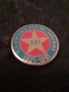 Odznak TJ Viktorie PTZ Nelahozeves 60 let / 1921 - 1981
