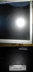 """17"""" LCD monitor HP BENQ  na opravu nebo ND"""