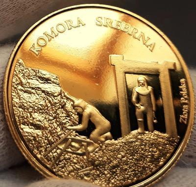 Historický stříbrný důl , Slezsko, Polsko , pamětní medaile