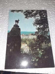 Pohlednice Karlovy Vary, neprošlé poštou.