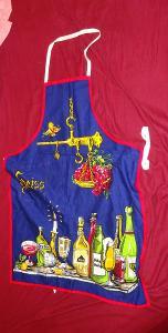 Kuchyňská zástěra s motivem lahví