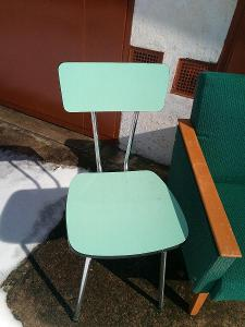 Retro židle umakart zelená