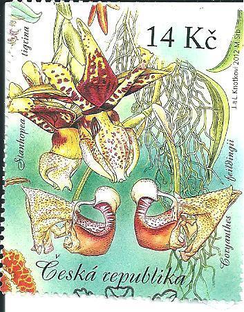 Pěstitel. - Krása orchid. 2012, raž. zn. sm. s raz. FDC, NL. k.č. 731.