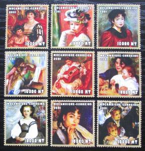 Mosambik 2001 Umění, Renoir Mi# 2070-78 Kat 11.50€ 2367