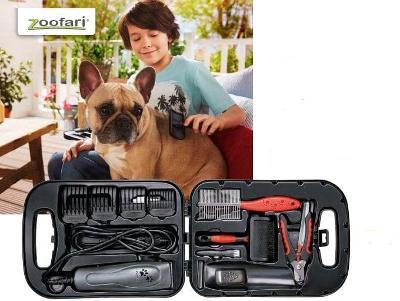 13-dílná sada péče o psy - zastřihovač v kufříku.