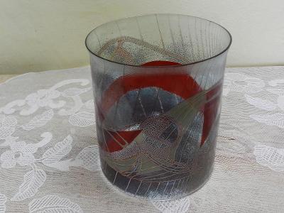 Autorská Váza tenkostěnné sklo Kamenický Šenov