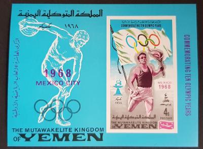Jemen Kindom 1968 Olympijské hry, aršík