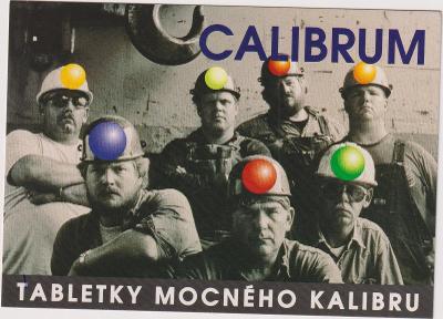 REKLAMNÍ POHLEDNICE TABLETKY CALIBRUM  2000  ČISTÁ