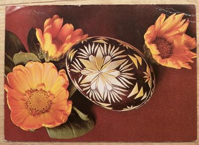 Retro pohlednice - Veselé velikonoce - 145 x 105 mm