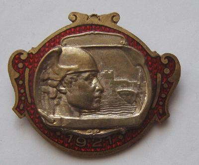 Ponúkam na predaj raritný odznak DUNAJSKÉHO VELTRHU A VÝSTAV 1921