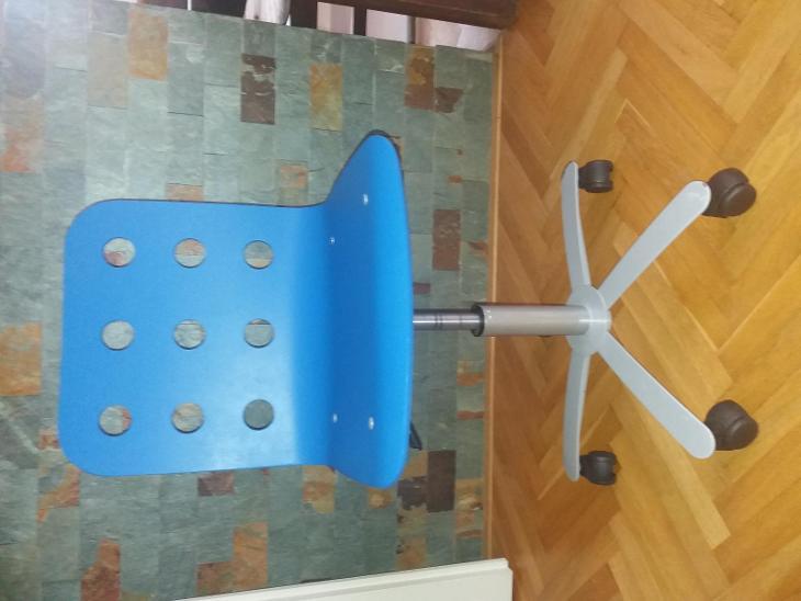 Kancelářská židle IKEA 300.598.95 modrá, nastavitelná výška - Nábytek