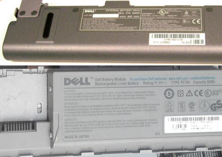 Originální baterie pro notebooky DELL starší řady Latitude - Notebooky, příslušenství