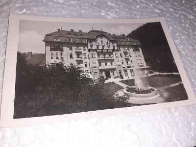 Pohlednice Trenčianské Teplice  - Grand Hotel, prošlé poštou.