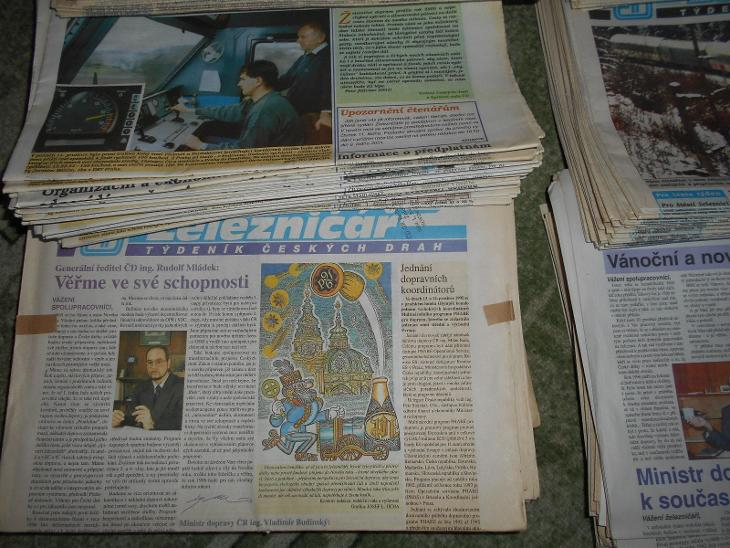 ŽELEZNIČÁŘ TÝDENÍK ČESKÝCH DRAH 1995 - 2008 - Ostatní
