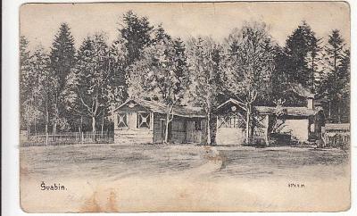 Švabín Zbiroh Rokycany STŘELNICE detail DA cca 1910