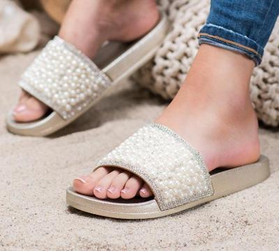 Nové! Letní perličkové nazouváky vel. 38