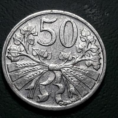 50 haléřů ČSR - 1951 -Al, 0.60g, 18.0 mm, aut. O. Španiel