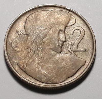 2 koruny -1947- CuNi (80+20), 6.00g, 23.5 mm, aut. J. Wagner