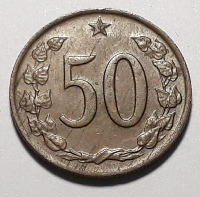 50 haléřů -1969-  ČSSR CuZn (90+10), 3 g, 21,5 mm, autor A. Peter
