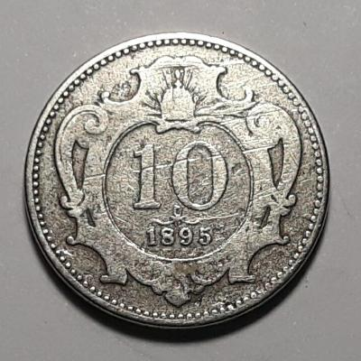 10 haléř František Josef I. Rakousko-Uhersko r. 1895