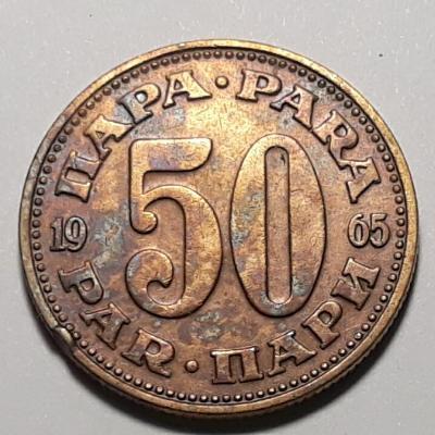 50 PARA - měna již neexistující Jugoslavie r. 1965