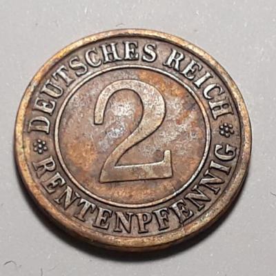 2 RENTEN PFENNIG - Německá říše - 1924