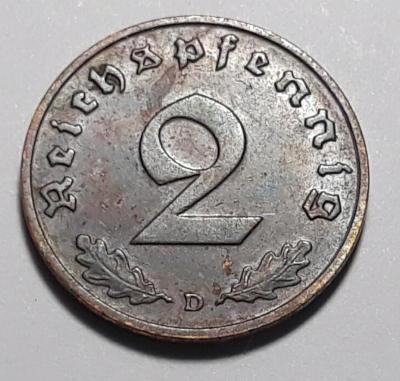 2 ŘÍŠSKÉ PFENNIG - Německá říše - 1937 - D