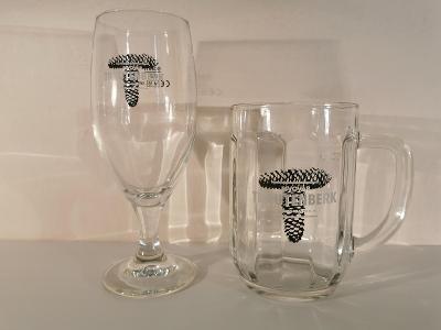 Pivní sklo půllitr - třetinka a degustační 0,2 PIVOVAR TRAUTENBERK