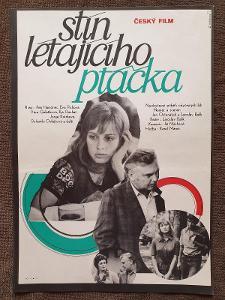 Filmový plakát A3 Stín létajícího ptáčka - Bláhová, Naděžda