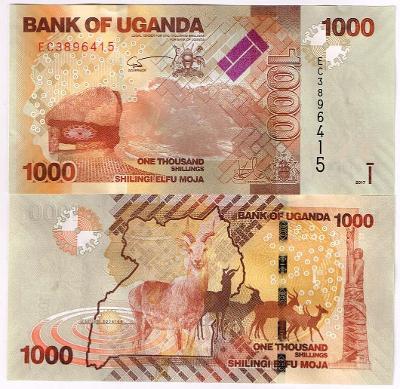 Uganda 1000 shillings 2017 UNC