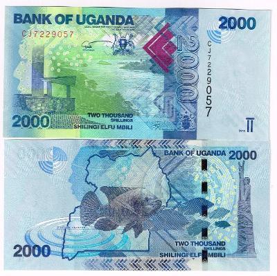 Uganda 2000 shillings 2016 UNC