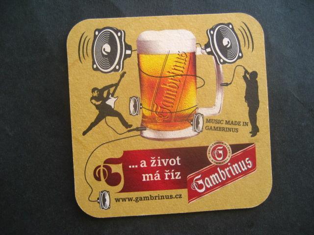 Pivní tácek Gambrinus  - Nápojový průmysl