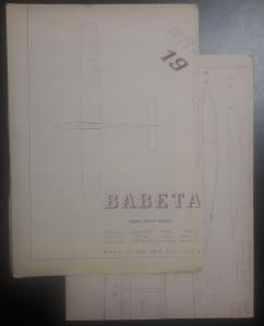 Stavební plánek na letadlo RAWA 19 - BABETA - rádiem řízený kluzák